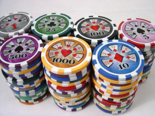 Chips - 300 High Roller 14 Gram Poker Chips Set With Aluminum Case