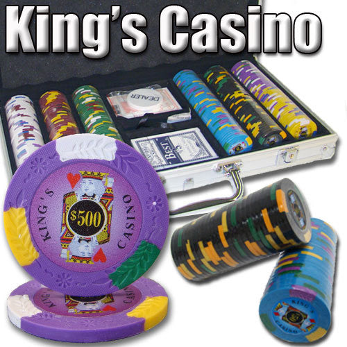 300 King's Casino 14 Gram Pro Clay Poker Chips Set with Aluminum Case - The Poker Store .Com