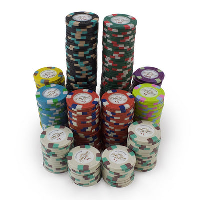 Chips - 300 Monaco Club 13.5 Gram Poker Chips Set With Aluminum Case