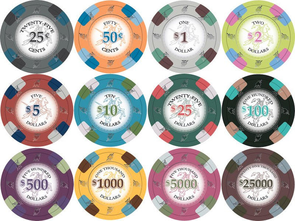 Chips - 300 Royal Poker Knights 13.5 Gram Poker Chips With Aluminum Case