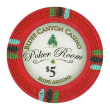 Chips - $5 Red Claysmith Bluff Canyon 13.5 Gram - 100 Poker Chips
