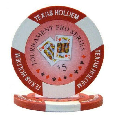 Chips - $5 Red Tournament Pro 11.5 Gram - 100 Poker Chips