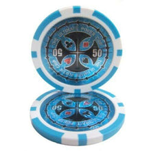 Chips - $50 Light Blue Ultimate 14 Gram - 100 Poker Chips