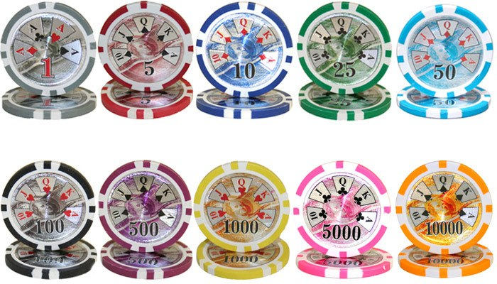 Chips - 500 Ben Franklin 14 Gram Poker Chips Bulk