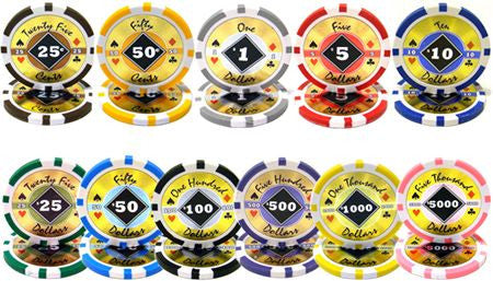 Chips - 500 Black Diamond 14 Gram Poker Chips Set