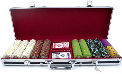 500 Claysmith The Mint 13.5 Gram Poker Chips Set with Aluminum Case - The Poker Store .Com