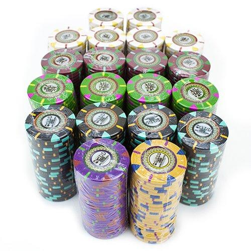 Chips - 500 Claysmith The Mint 13.5 Gram Poker Chips Set With Aluminum Case