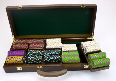 Chips - 500 Claysmith The Mint 13.5 Gram Poker Chips Set With Walnut Wood Case