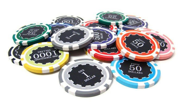 Chips - 500 Eclipse 14 Gram Poker Chips Set With Aluminum Case
