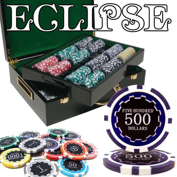 Chips - 500 Eclipse 14 Gram Poker Chips Set With Hi Gloss Humidor Case