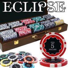Chips - 500 Eclipse 14 Gram Poker Chips Set With Walnut Wood Case