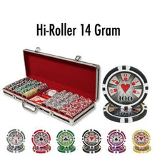 500 High Roller 14 Gram Poker Chips Set with Black Aluminum Case - The Poker Store .Com