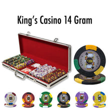 500 King's Casino 14 Gram Pro Clay Poker Chips Set with Black Aluminum Case - The Poker Store .Com