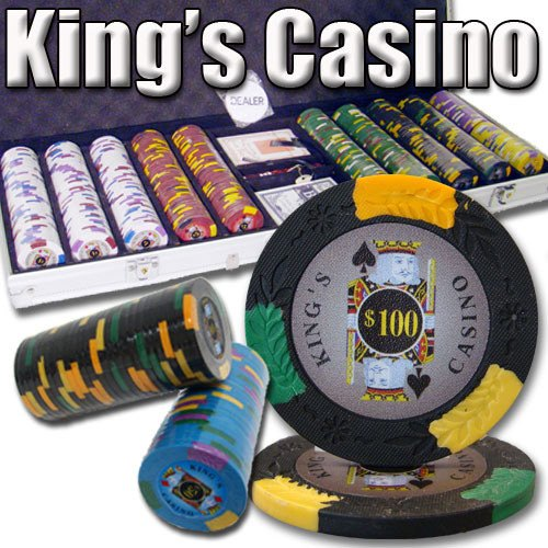 Chips - 500 King's Casino 14 Gram Pro Clay Poker Chips Set With Aluminum Case