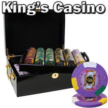 Chips - 500 King's Casino 14 Gram Pro Clay Poker Chips Set With Black Mahogany Case