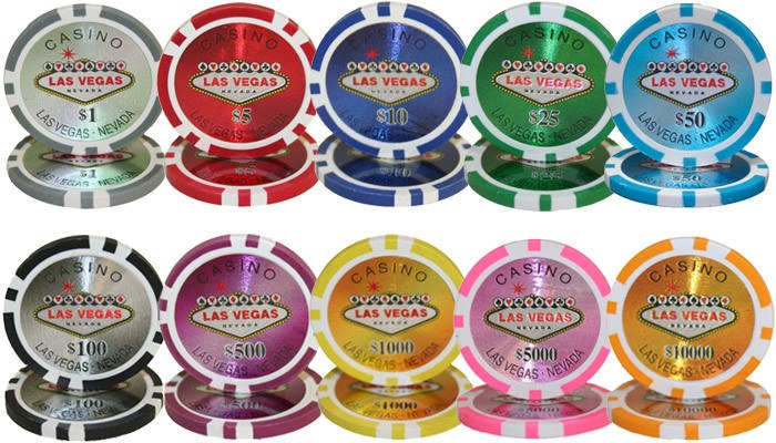 Chips - 500 Las Vegas 14 Gram Poker Chips Bulk
