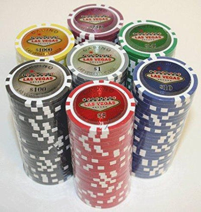 Chips - 500 Las Vegas 14 Gram Poker Chips Set With Black Aluminum Case
