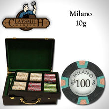 Chips - 500 Milano 10 Gram Pure Clay Poker Chips Set With Hi Gloss Humidor Case