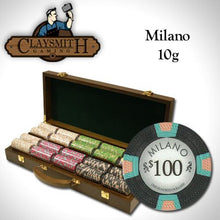500 Milano Poker Set with Walnut Wooden Case