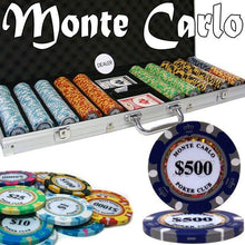 Chips - 500 Monte Carlo 14 Gram Poker Chips Set With Aluminum Case Pre-Packaged