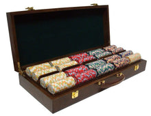 Chips - 500 Nile Club 10 Gram Ceramic Poker Chips With Walnut Wood Case