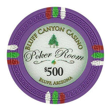Chips - $500 Purple Claysmith Bluff Canyon 13.5 Gram - 100 Poker Chips