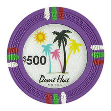 Chips - $500 Purple Claysmith Desert Heat 13.5 Gram - 100 Poker Chips