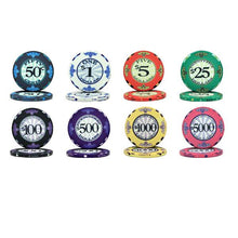 Chips - 500 Scroll 10 Gram Ceramic Poker Chips Bulk
