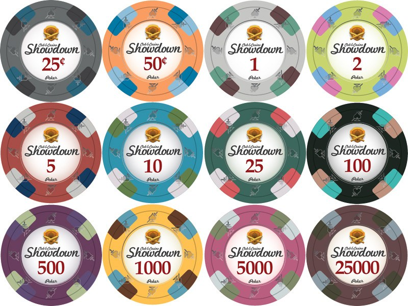 Chips - 500 Showdown Casino 13.5 Gram Poker Chips Bulk
