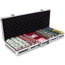 Chips - 500 Showdown Casino 13.5 Gram Poker Chips Set With Black Aluminum Case