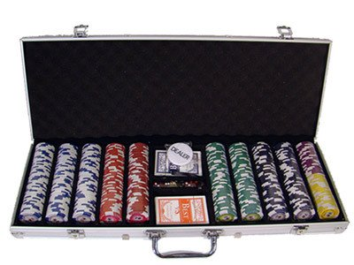 Chips - 500 Tournament Pro 11.5 Gram Poker Chips Set With Aluminum Case