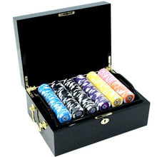 Chips - 500 Tournament Pro 11.5 Gram Poker Chips Set With Black Mahogany Case