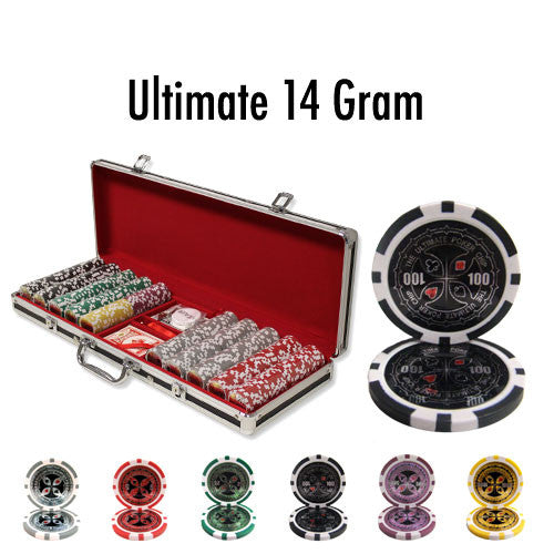 Chips - 500 Ultimate 14 Gram Poker Chips Set W Case