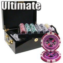 Chips - 500 Ultimate 14 Gram Poker Chips Set With Black Mahogany Case