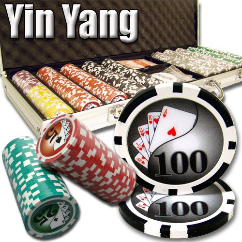 Chips - 500 Yin Yang 13.5 Gram Poker Chips Set With Aluminum Case