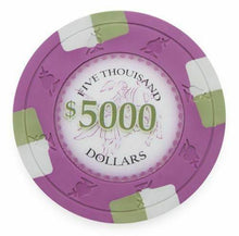 Chips - $5000 Five Thousand Dollar Poker Knights 13.5 Gram - 100 Poker Chips