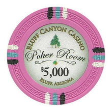 Chips - $5000 Pink Claysmith Bluff Canyon 13.5 Gram - 100 Poker Chips