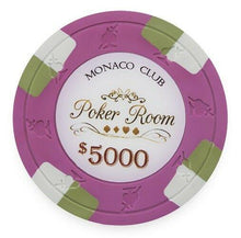 Chips - $5000 Pink Monaco Club 13.5 Gram - 100 Poker Chips