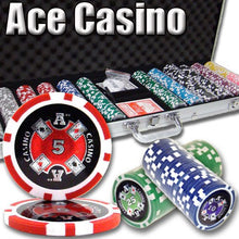 Chips - 600 Ace Casino 14 Gram Poker Set With Aluminum Case
