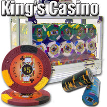 Chips - 600 King's Casino 14 Gram Pro Clay Poker Chips Set With Acrylic Carrier Case