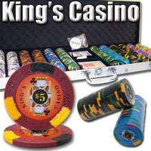 Chips - 600 King's Casino 14 Gram Pro Clay Poker Chips Set With Aluminum Case