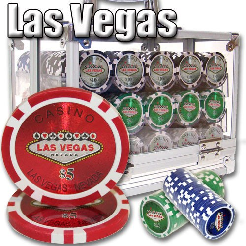Chips - 600 Las Vegas 14 Gram Poker Chips With Acrylic Carrier