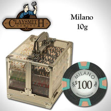 Chips - 600 Milano 10 Gram Pure Clay Poker Chips Acrylic Carrier Set