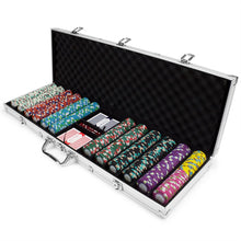 Chips - 600 Monaco Club 13.5 Gram Poker Chips Set With Aluminum Case