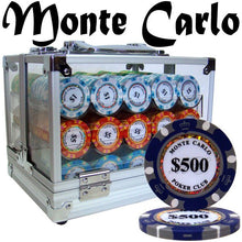 Chips - 600 Monte Carlo 14 Gram Poker Chips Set With Acrylic Carrier