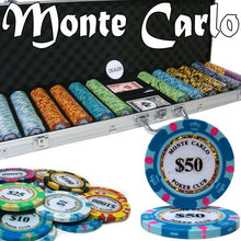 Chips - 600 Monte Carlo 14 Gram Poker Chips Set With Aluminum Case
