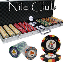 Chips - 600 Nile Club 10 Gram Ceramic Poker Chips With Aluminum Case