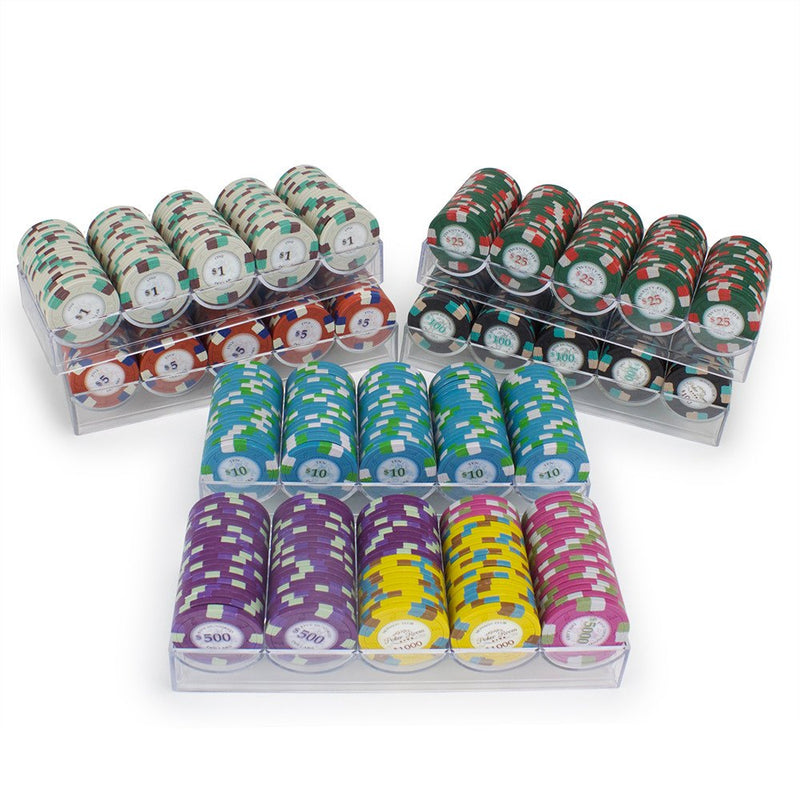 Chips - 600 Royal Poker Knights 13.5 Gram Poker Chips With Acrylic Carrier