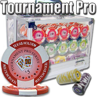 Chips - 600 Tournament Pro 11.5 Gram Poker Chips Set With Acrylic Carrier