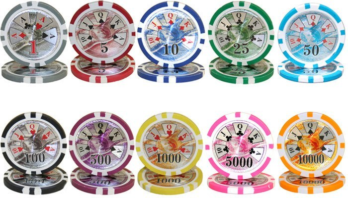 Chips - 700 Ben Franklin 14 Gram Poker Chips Bulk